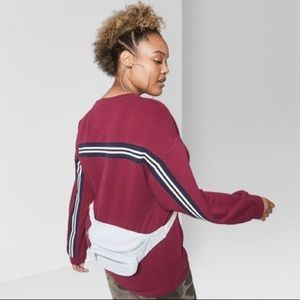 Wild Fable Burgundy Stripe Sweatshirt